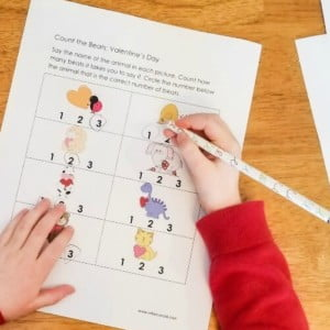 Fun Kindergarten Syllable Activities including a Free Valentine's Day Worksheet Set