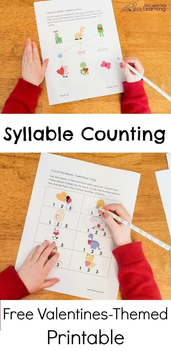 Fun Kindergarten Syllable Activities including a Free Valentine\'s ...