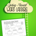 Practice reading and spelling with spring-themed word ladders (also called word links), where one words must lead in to the next. Great way to practice spelling!