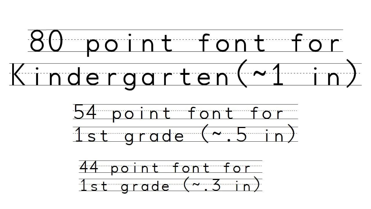 penmanship print