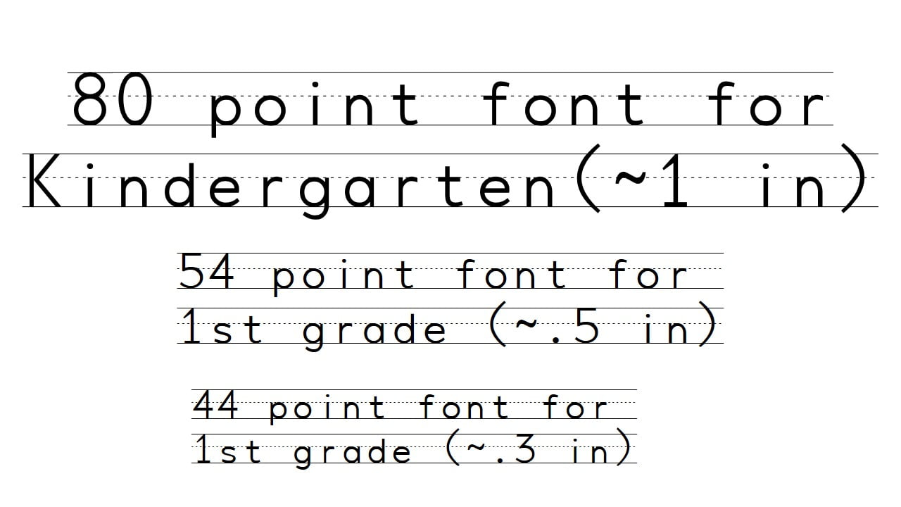 Friday Freebie: Penmanship Print Font – Line upon Line