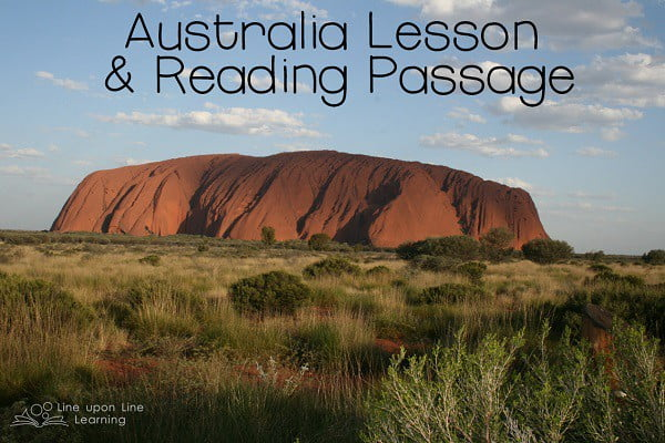 australia lesson ideas