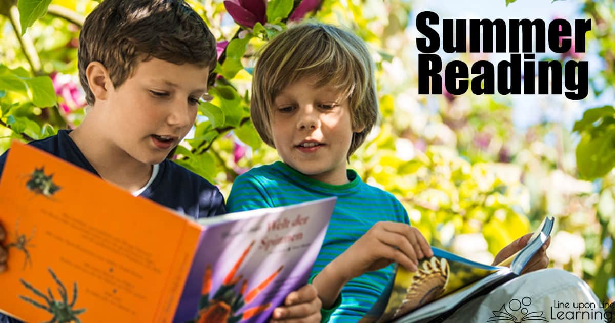 We love using our summer free time for free reading. Check out the summer reading ideas.