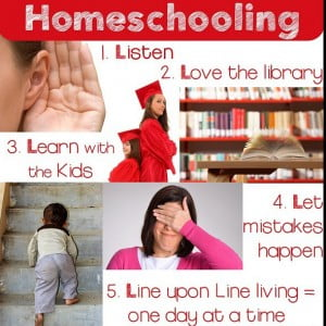 "Homeschooling How To: Five ""L's"" of Homeschooling"