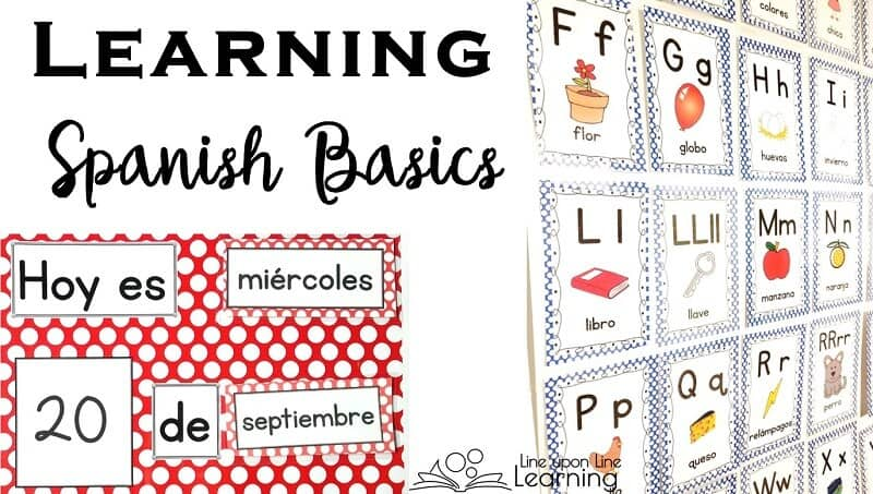 Spanish Basics Spanish Alphabet And Spanish Calendar Chart  Line