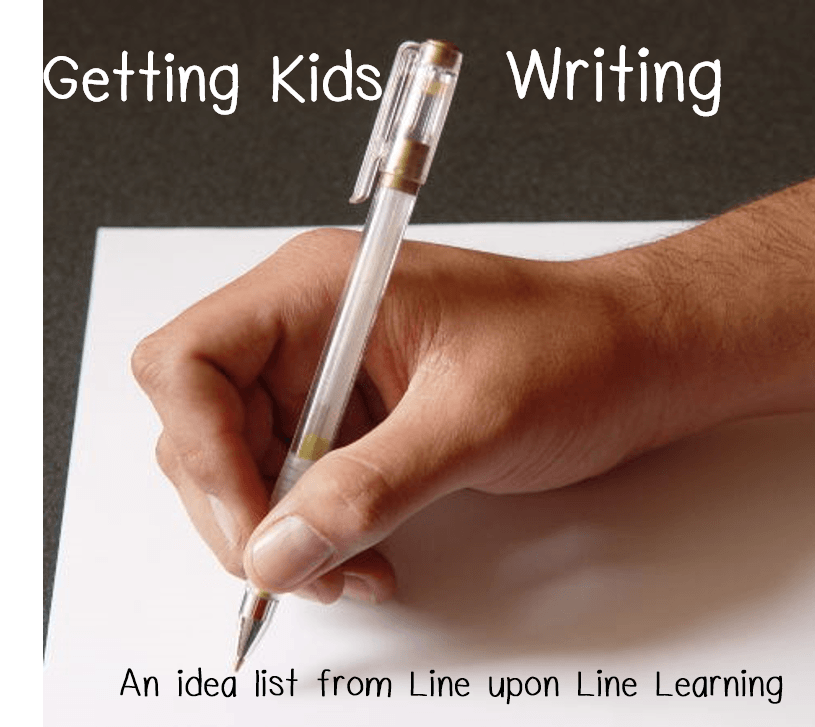 getting kids writing