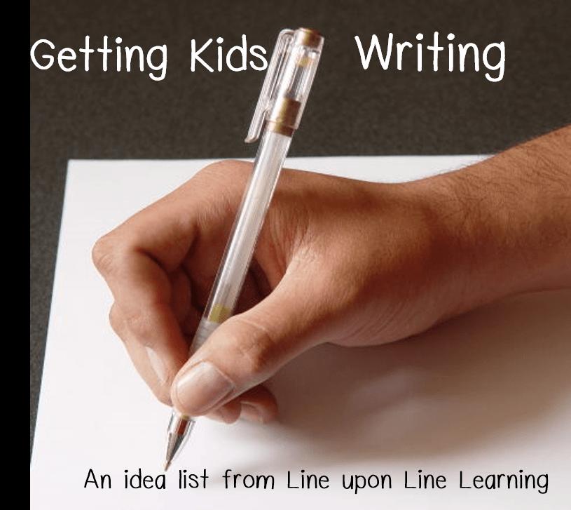 getting kids writing