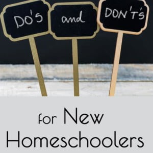 Essential Tips: Do's and Don'ts for the New Homeschooler
