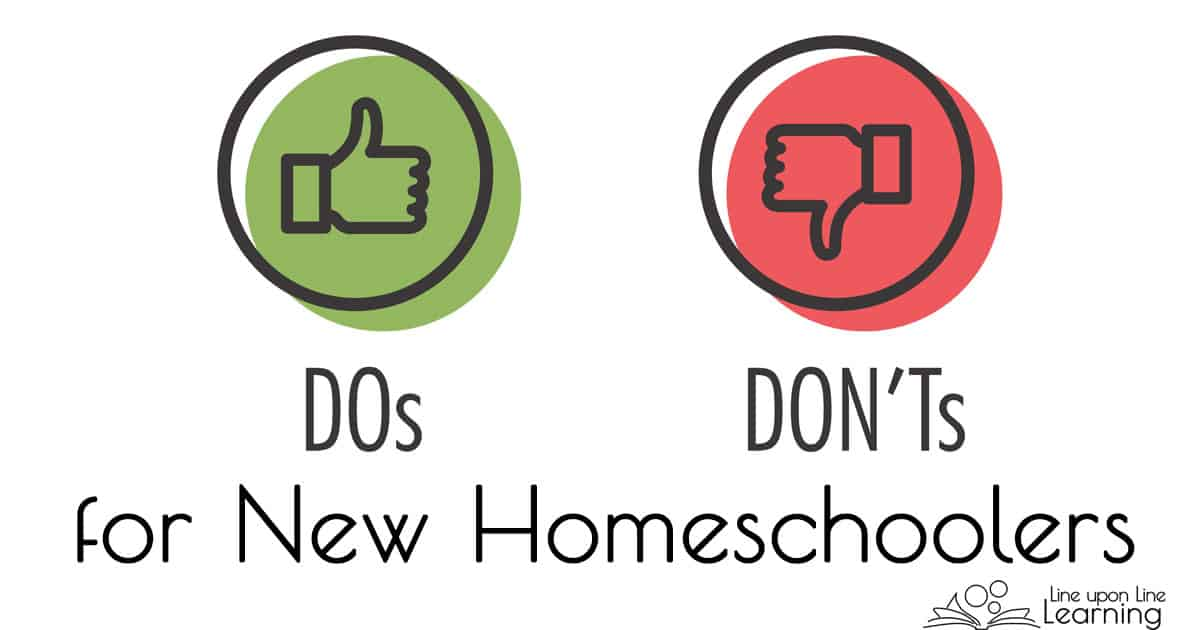 It's someties overwhel,ig to get started homeschooling. Here are some Do's and Don'ts for brand-new homeschoolers to help navigate homeschooling in the beginning.