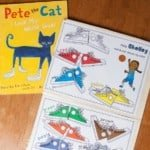 The first Pete the Cat book inspired a fun toddler-level Shoes Color Matching game! Download the freebie when you subscribe to my newsletter.