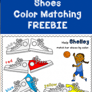 Shoes Color Matching Game Freebie