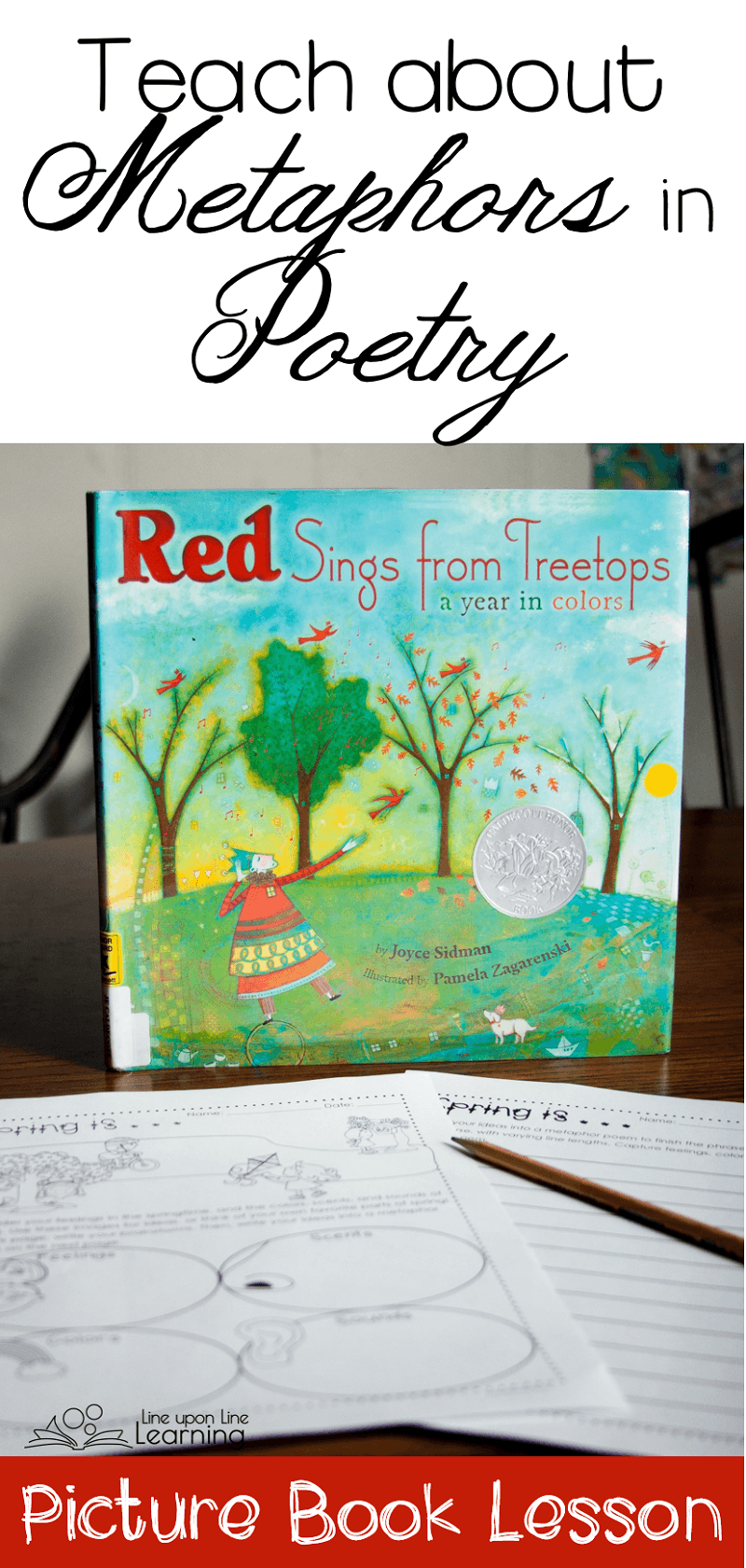 Use Red Sings From Treetops as the beginning of a discussion about imagism and strong metaphors in poetry.