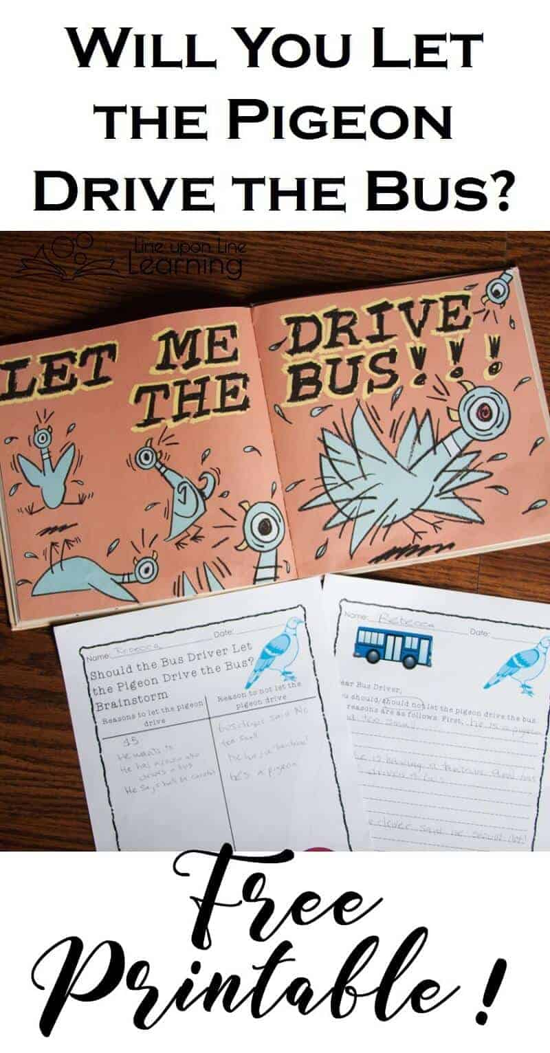 Should we let the pigeon drive the bus? Practice persuasive writing with an old picture book friend.