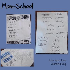 Week in Review: Mom-School