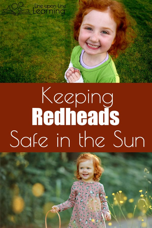 It takes a little planning and a few essential resources to keep my redheads safe in the summer sun. See what we do to protect our skin!
