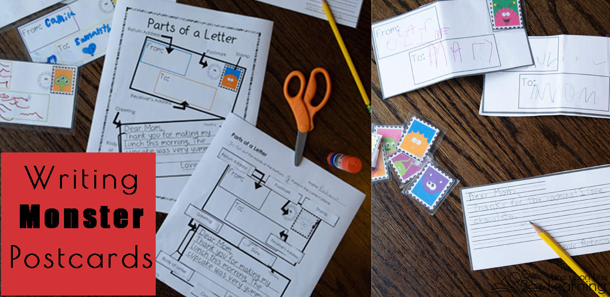Practice letter writing with these monster postcard templates. Addressing a letter, parts of a letter, and more is included with the download.