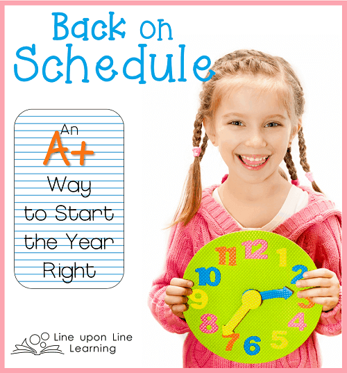 Use a printed and variable visual schedule to keep track of what you need to get done in your home or homeschool! Free printable included.