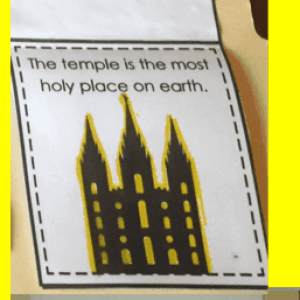 LDS Temples Lapbook Freebie