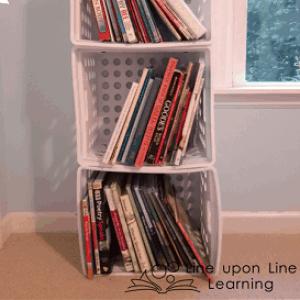 Inexpensive Bookshelves {A Pinteresting Project}