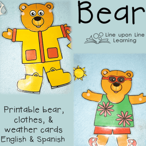 Adding a Weather Bear to Preschool Calendar or Circle Time