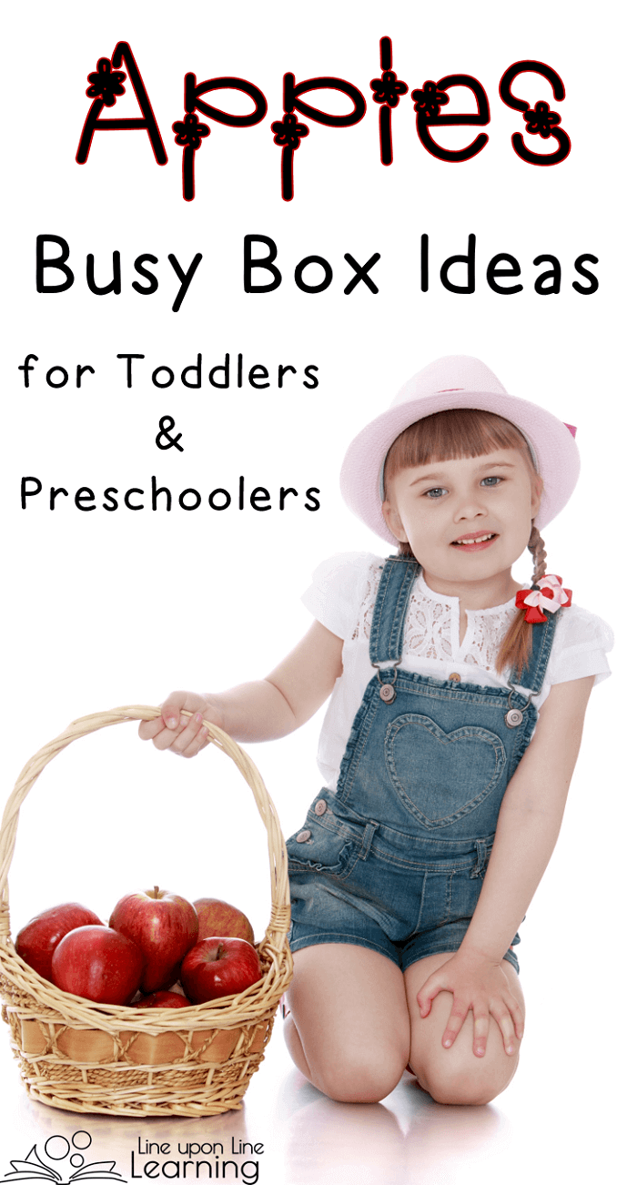 Here are some great apple-themed activities for keeping your toddler or preschooler busy.