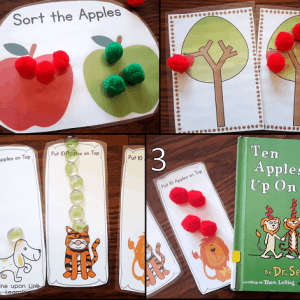 Workbox Wednesday: Apple Activities for a Toddler