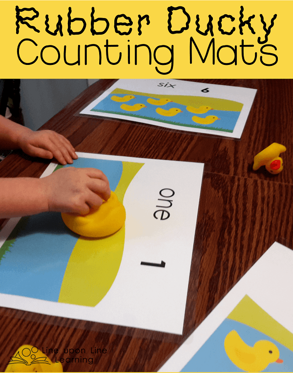 Ducky counting mats game line upon line learning ducky mats1 fandeluxe Image collections