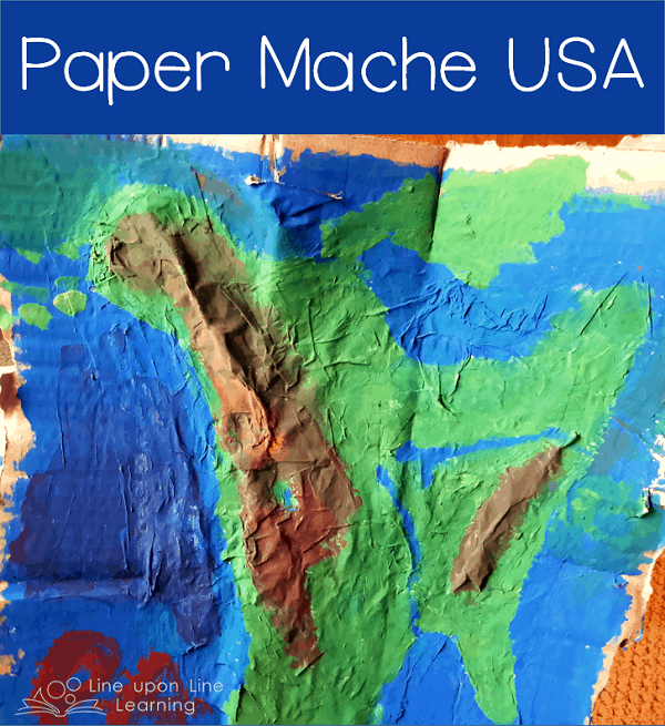 Paper Mache USA: Learn about U.S. landforms (mountains, rivers, lakes) and geography with a 3-dimensional paper mache map.
