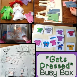 """Froggy Gets Dressed"" Busy Box {Workbox Wednesday}"
