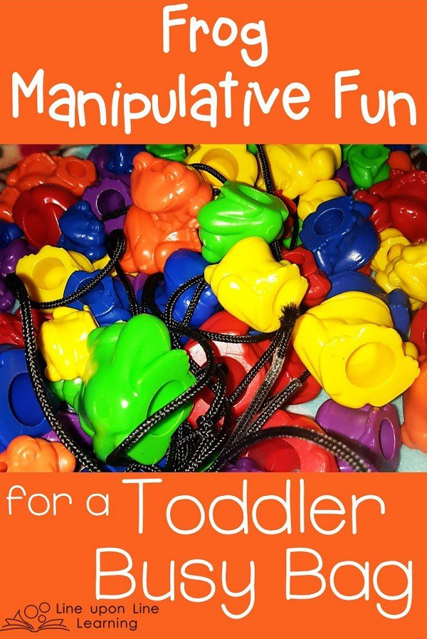 toddler busy bag frogs
