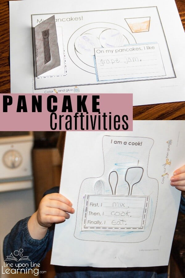 Practice early writing skills and above all IMAGINE with these prek or kindergarten level differentiated pancake craftivities. They are crafts plus writing activities!