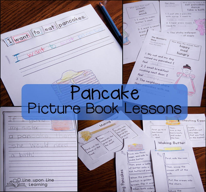 Cut-up sentences, sequencing, and story summaries make pancakes picture books even more fun.
