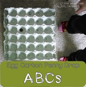 Egg Carton ABC Penny Drop (Workbox Wednesday)