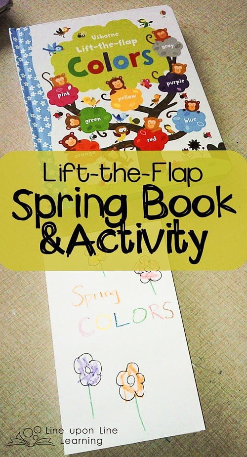 After reading a delightful lift-the-flap book, my toddler wanted to make her own lift-the-flap book!
