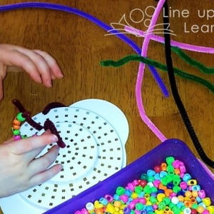 Beads and Pipe Cleaner Play