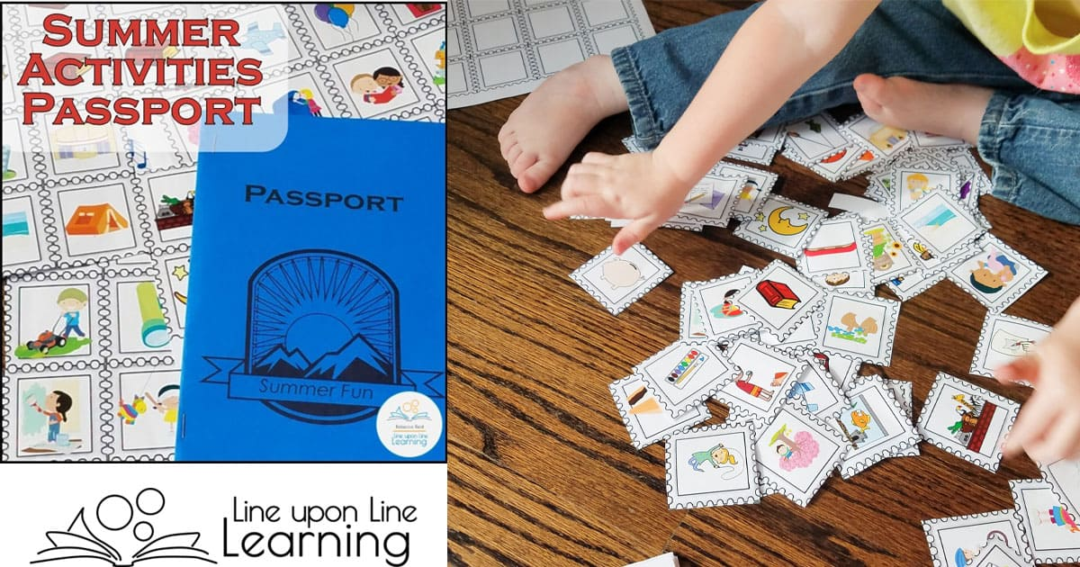 Cutting and pasting activities stamps into our Summer Fun Passports is great fine motor practice for my preschooler. What fun it is to track our activities with a passport to fun!