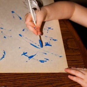 Quill Painting to Learn about Then and Now