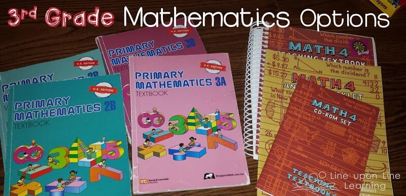 Third Grade Mathematics Options for Homeschool