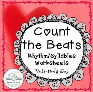 Valentine's Day Syllable Counting Practice *FREEBIE* and Introduction to Rhythm