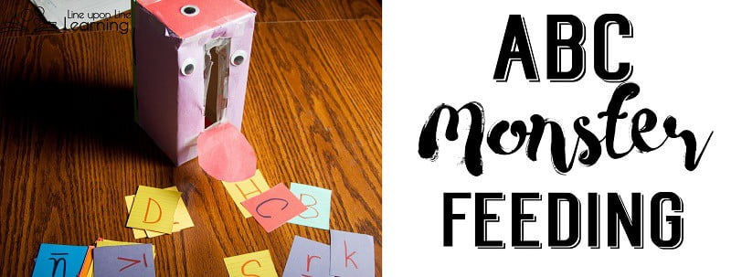 The most simple activity -- feeding letters into an empty tissue box-turned monster -- can be amusing literacy activities for toddlers.