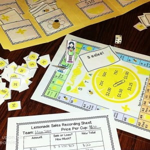 Easing Into the School Year: Lemonade Stand Math Game
