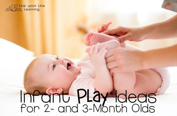Infant play ideas for a 2- or 2-month old