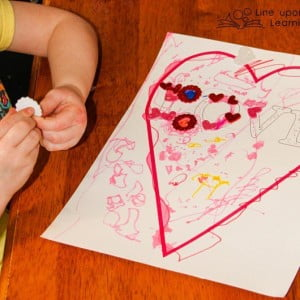 Fine Motor and Literacy Stickers Activity