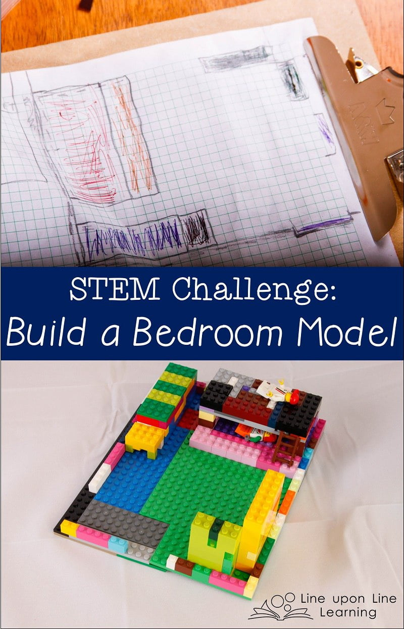 I gave Raisin a challenge this morning: find the area and perimeter of his bedroom by making a model. He was delighted to get to work in making a bedroom model once I mentioned LEGO bricks.
