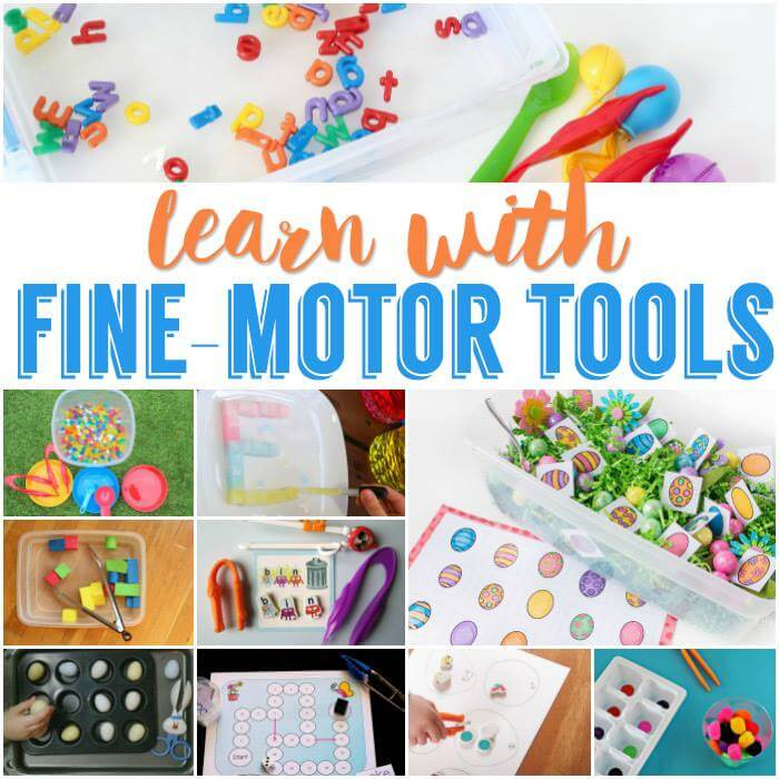 Practice fine motor skills with some of these amazing ideas using simple tools.