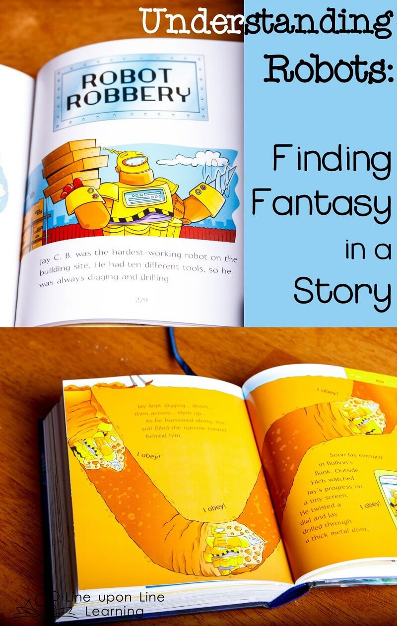 We read the robot story and talked about what could happen and which things were definitely fantasy, based on what we know about robots!