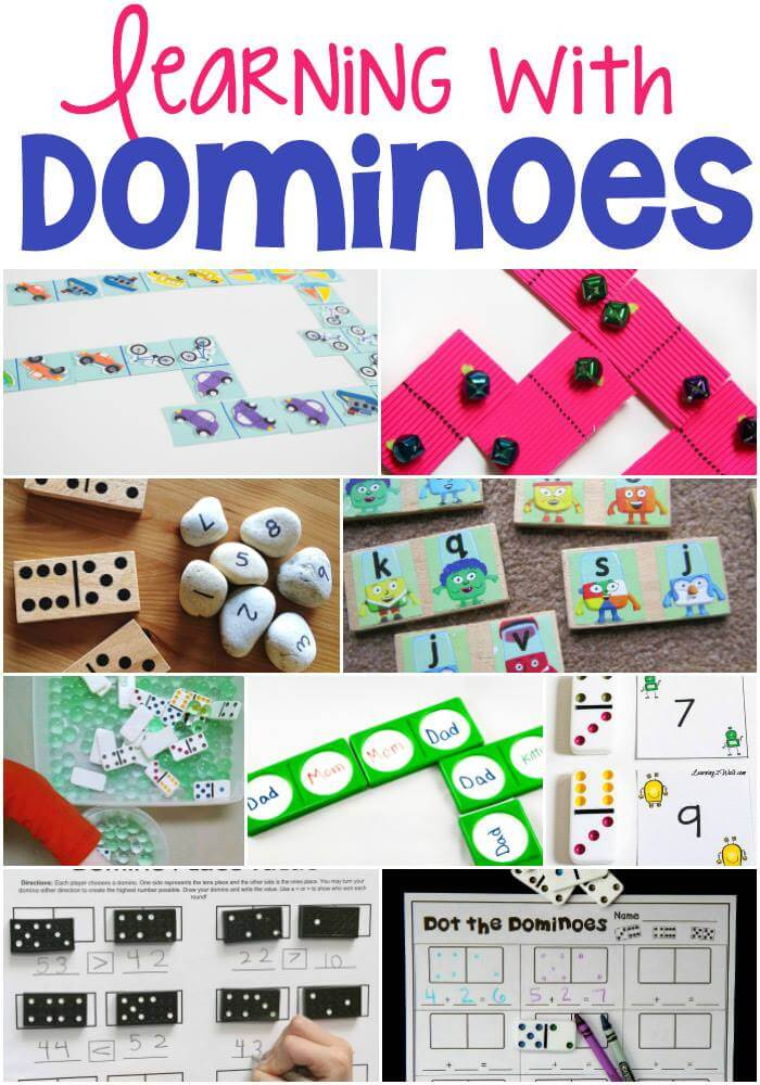 Here are lots of ideas for learning with dominoes!