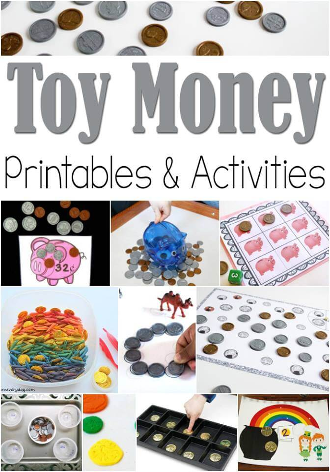 Here are some AMAZING ideas, printables, and activities for using with toy money.
