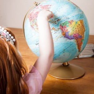 A Simple Continents Preschool Lesson to Introduce the World