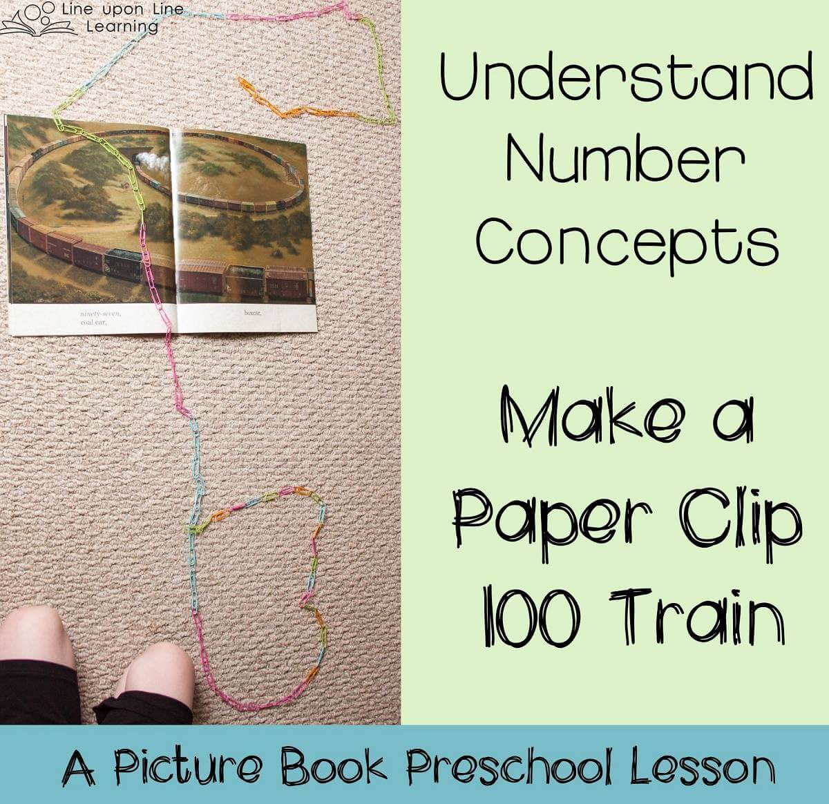 My daughter's favorite part of our paper clip 100 train activity was then playing with the train when we were done counting!